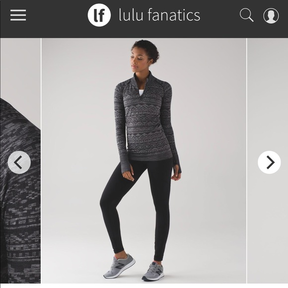 7e1fe2ef7b787 lululemon athletica Tops - Lululemon restless 1 4 zip